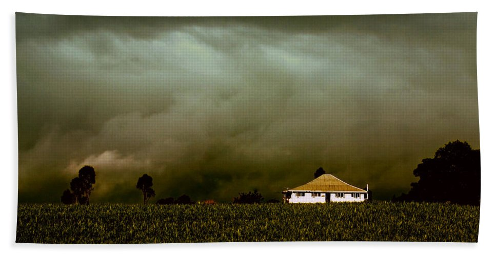 Landscape Beach Towel featuring the photograph Storm on the Rise by Holly Kempe