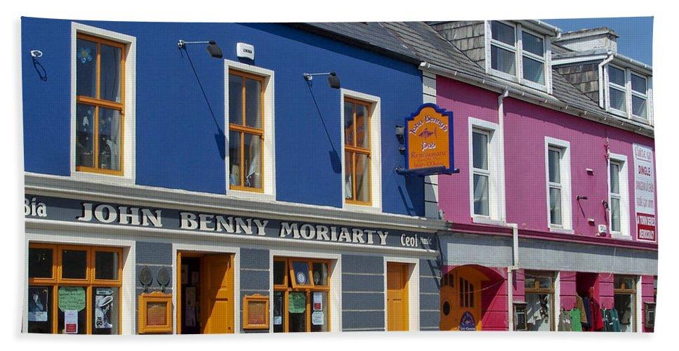 Irish Beach Towel featuring the photograph Strand Street in Dingle Ireland by Teresa Mucha