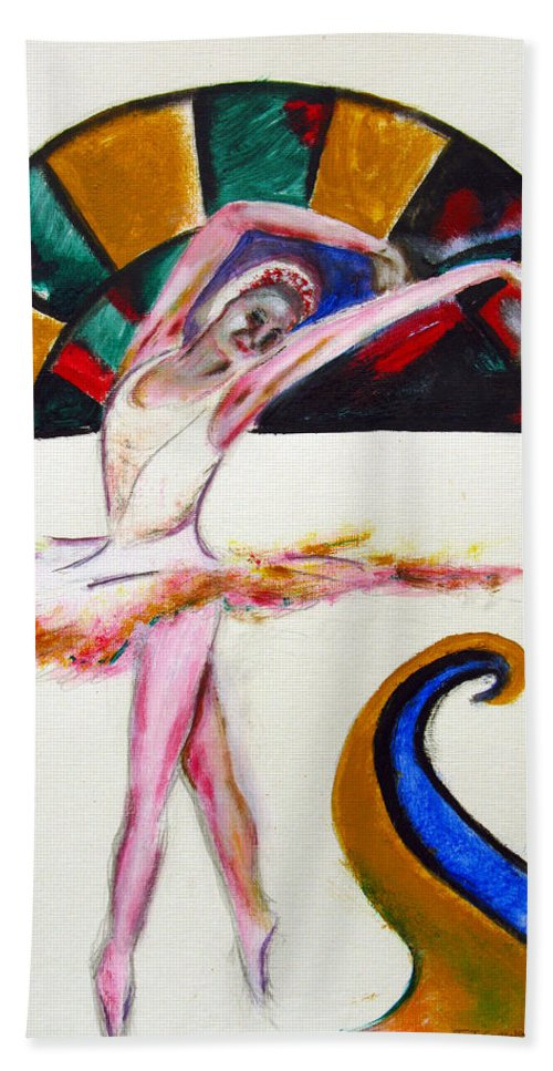 Female Beach Towel featuring the painting The Ballerina by Tom Conway