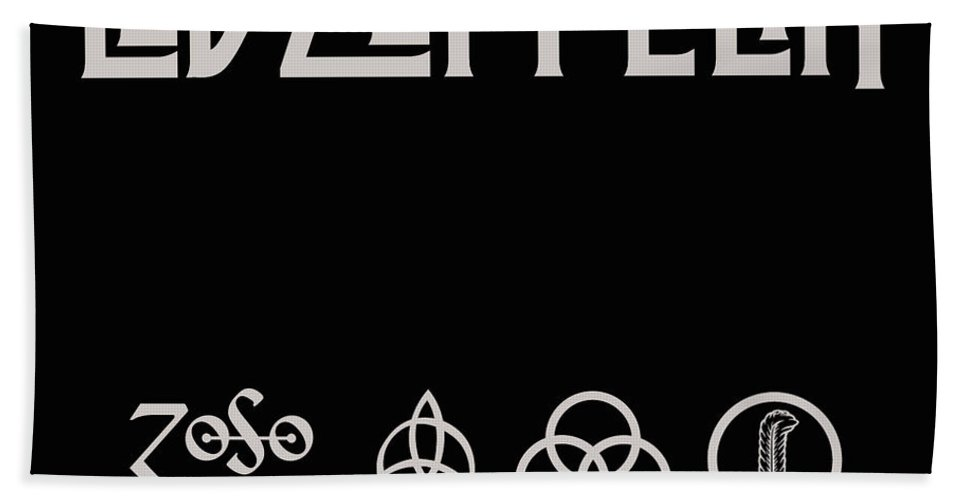 Led Zeppelin Beach Towel featuring the digital art The Complete Studio Albums by Led Zeppelin by Poster Frame
