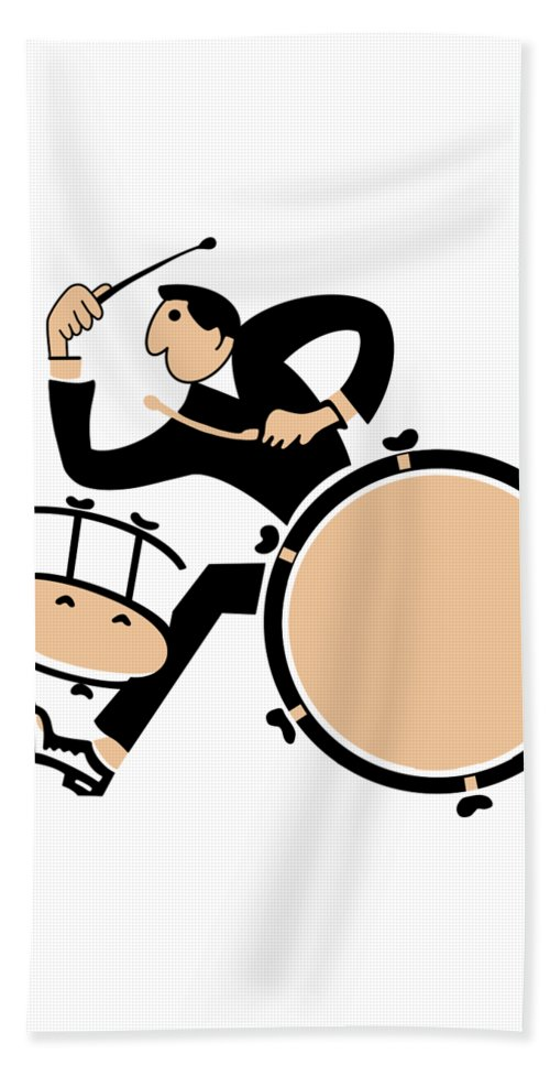 Drum Beach Towel featuring the photograph The Drummer by Mark Rogan