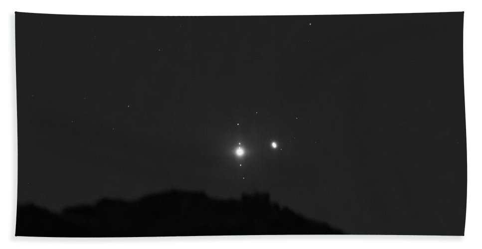 Beach Towel featuring the photograph The Last sight of the Conjunction by Prabhu Astrophotography