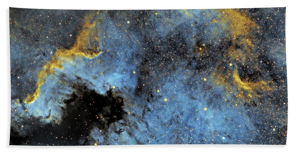 Nebula Beach Towel featuring the photograph The North America Nebula by Prabhu Astrophotography