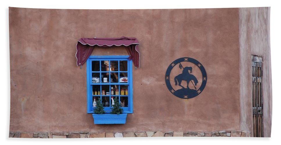 Architecture Beach Towel featuring the photograph The Santa Fe Window by Rob Hans
