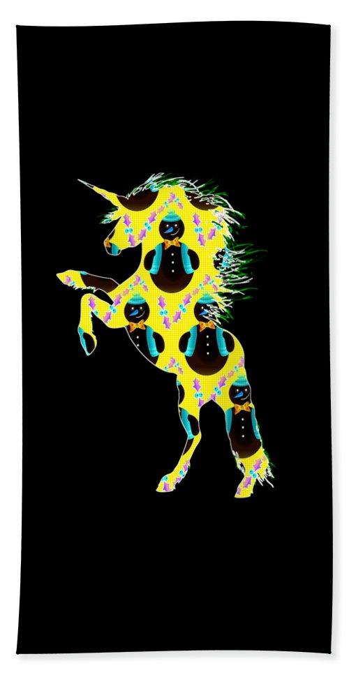 Unicorn Easter Beach Towel featuring the digital art Unicorn 39 by Kaylin Watchorn