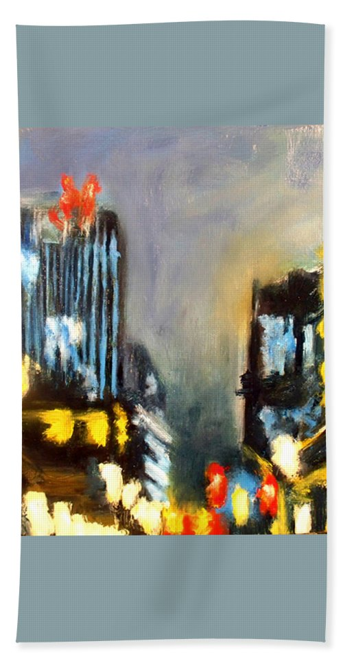 Beach Towel featuring the painting Untitled II - Des Moines by Robert Reeves