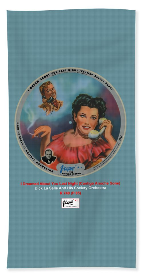 Vogue Picture Record Beach Towel featuring the digital art Vogue Record Art - R 740 - P 85 by John Robert Beck