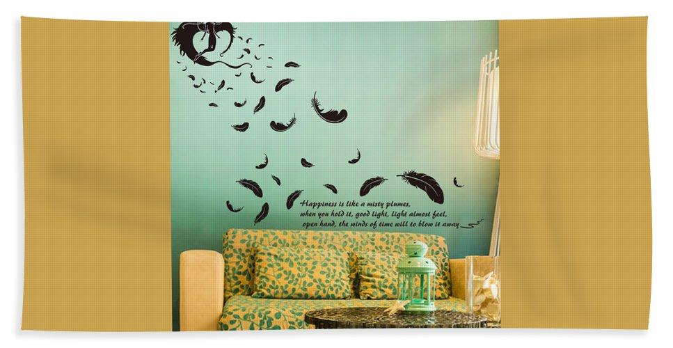 Beach Towel featuring the digital art Wall art by Wild