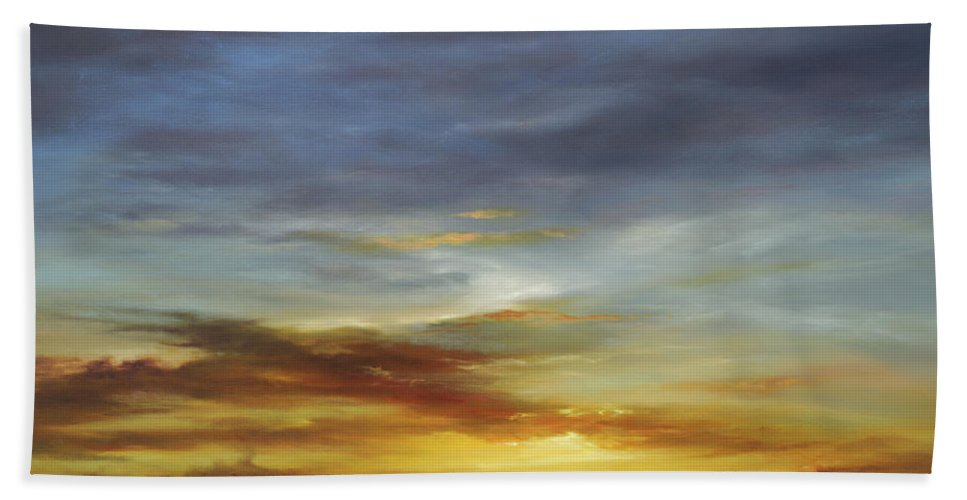 Sunset Beach Towel featuring the painting Whisper to me by Cheryl Kline