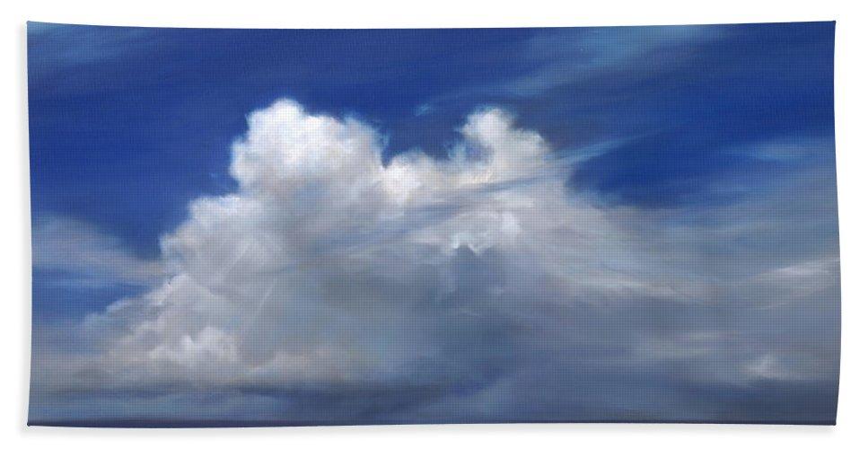 Angel Beach Towel featuring the painting Wind Angel by Cheryl Kline