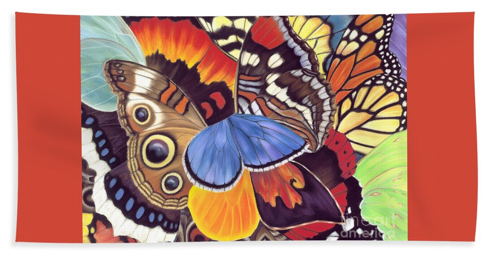 Butterflies Beach Towel featuring the painting Wings Of California by Lucy Arnold
