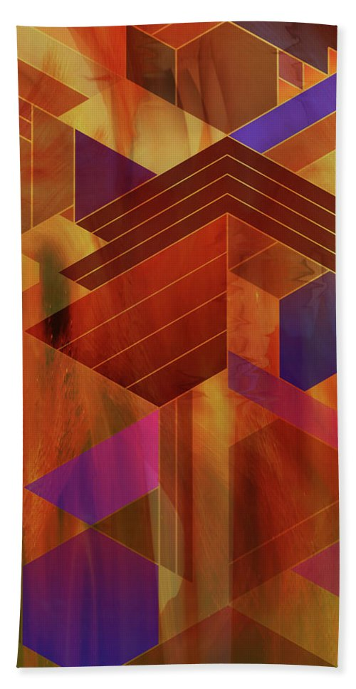 Wrightian Reflections Beach Towel featuring the digital art Wrightian Reflections by John Robert Beck