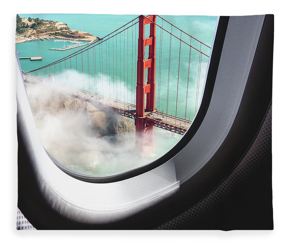 Scenics Fleece Blanket featuring the photograph Aerial View Of San Francisco Golden by Franckreporter