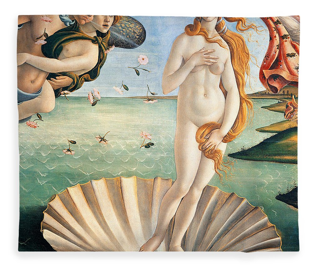 Painting Fleece Blanket featuring the painting Birth Of Venus by Sandro Botticelli