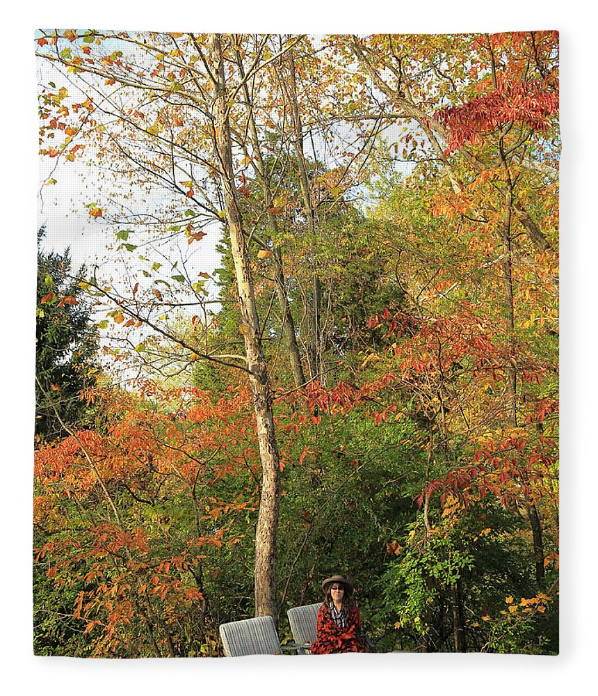 Blanket Of Leaves Fleece Blanket featuring the photograph Blanket Of Leaves by PJQandFriends Photography