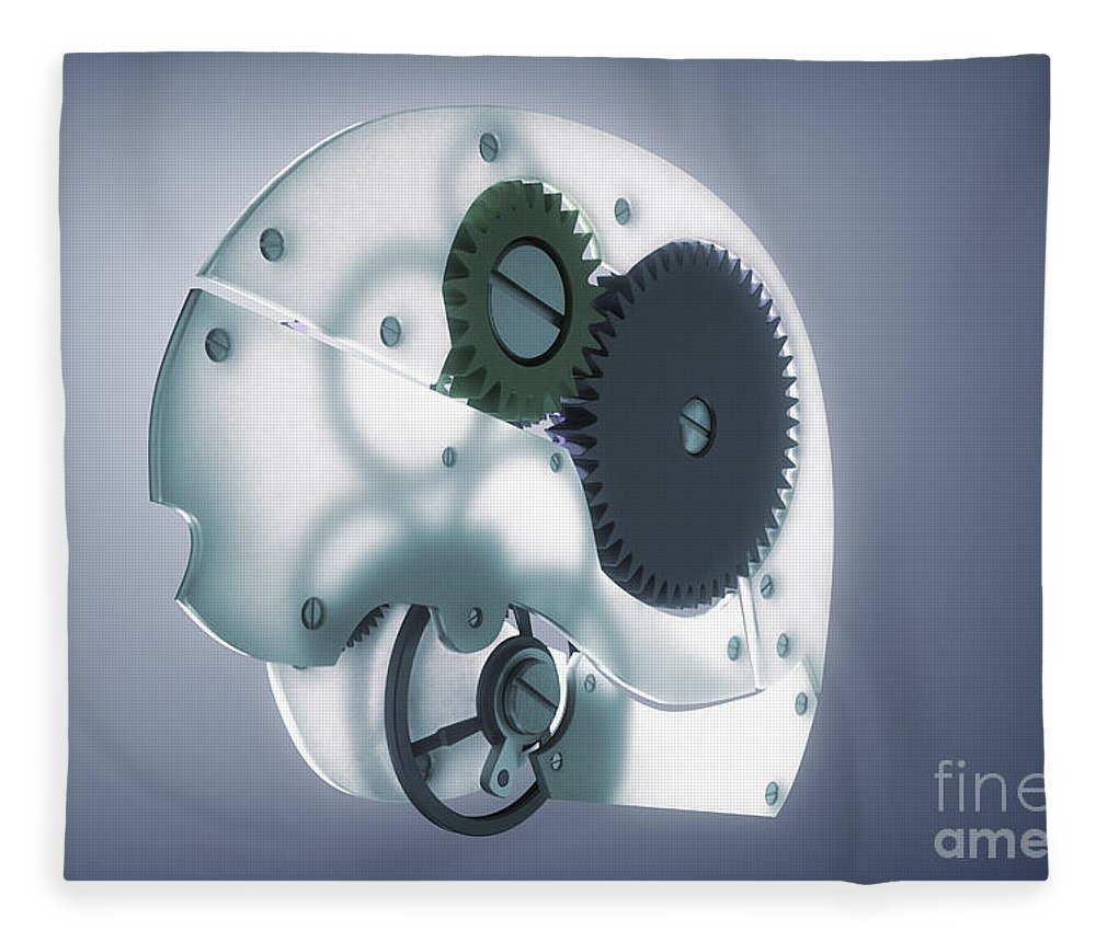3d Visualisation Fleece Blanket featuring the photograph Brain Mechanism by Science Picture Co