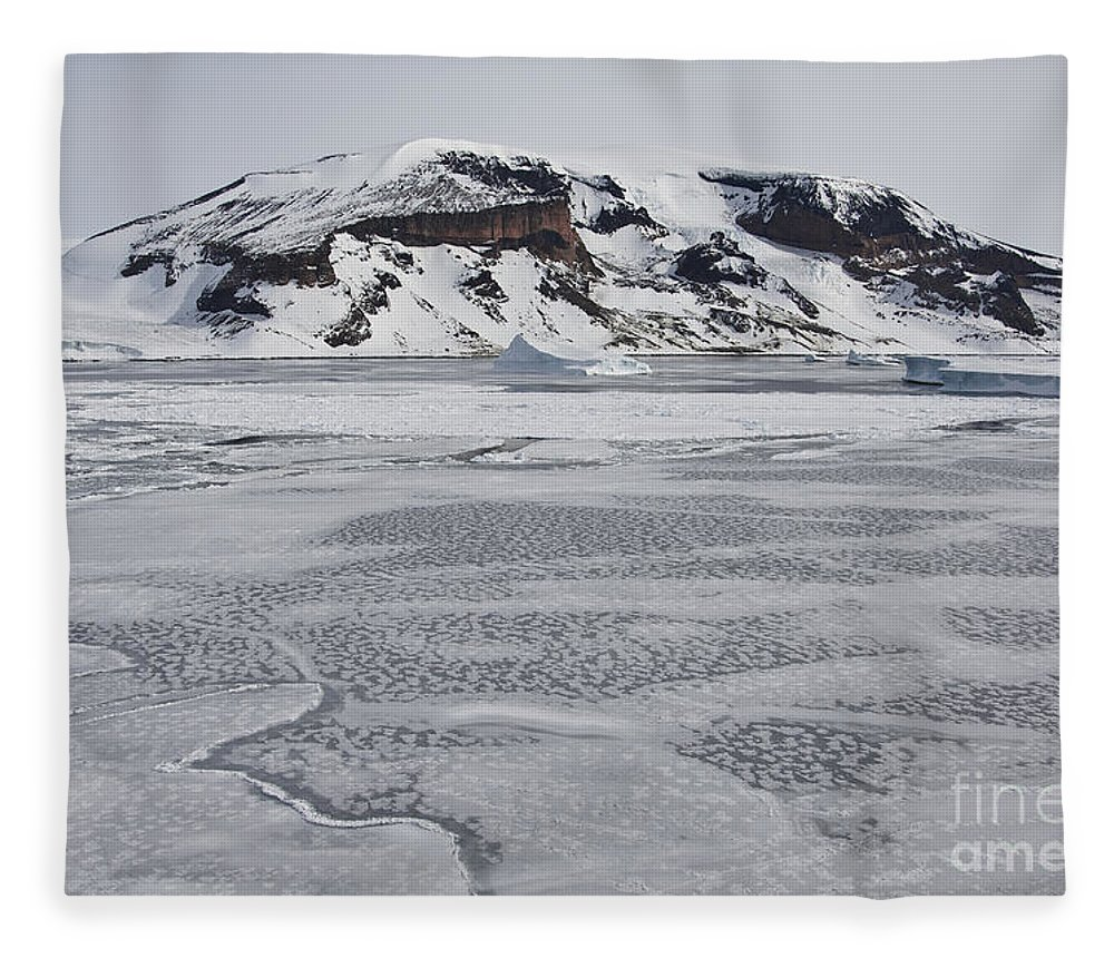 Pack Ice Fleece Blanket featuring the photograph Brown Bluff, Antarctica by John Shaw