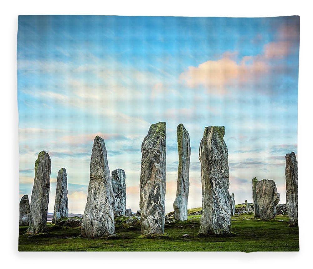 Prehistoric Era Fleece Blanket featuring the photograph Callanish Standing Stones, Isle Of Lewis by Theasis