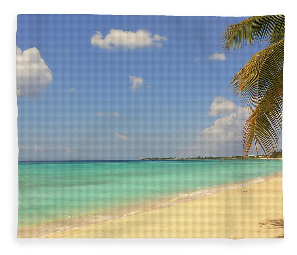 Scenics Fleece Blanket featuring the photograph Caribbean Dream Beach by Shunyufan