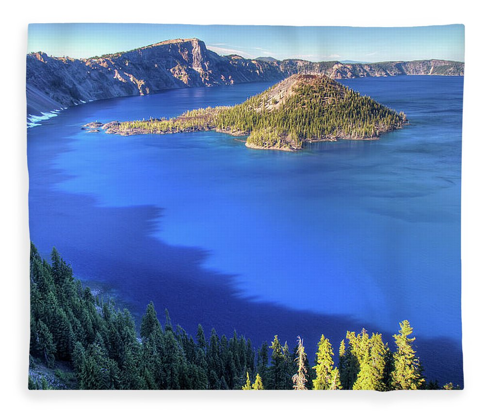 Crater Lake Fleece Blanket featuring the photograph Crater Lake, Oregon by Pierre Leclerc Photography