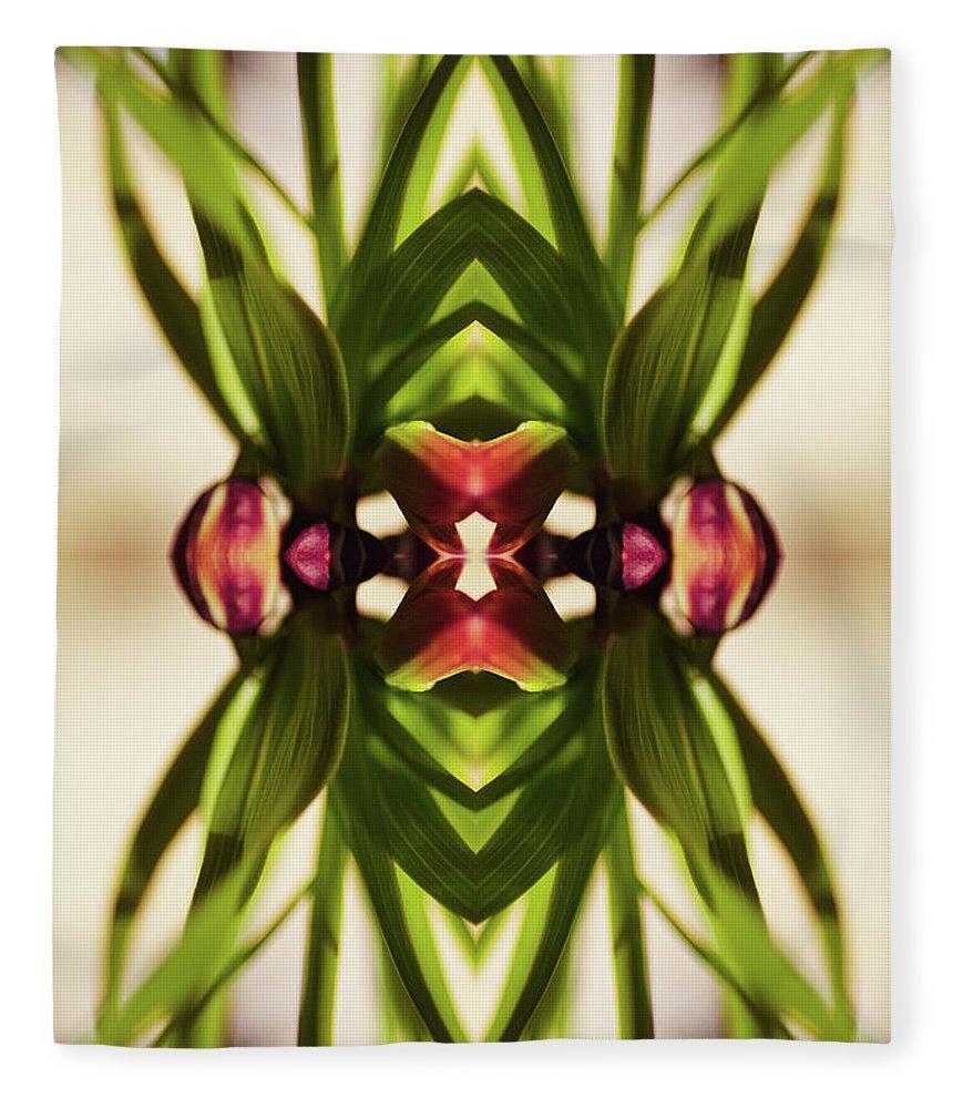 Fritillaria Fleece Blanket featuring the photograph Fritillaria Flower Plant by Silvia Otte