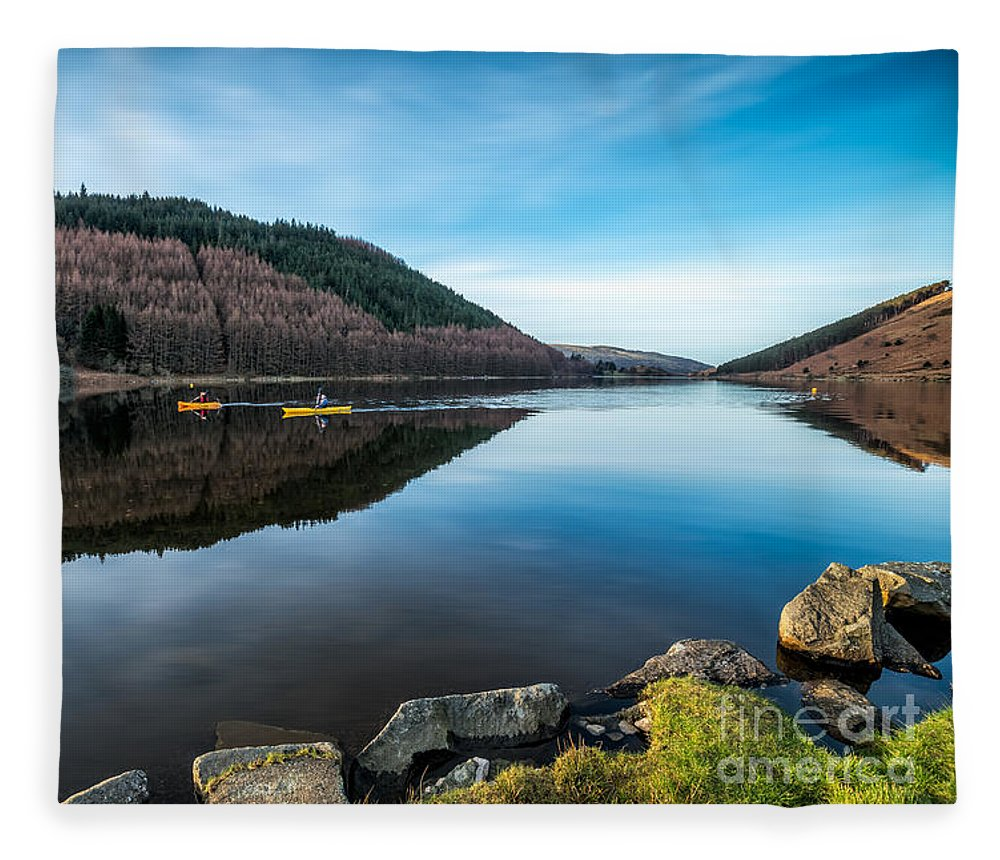 Lake Fleece Blanket featuring the photograph Geirionydd Lake by Adrian Evans