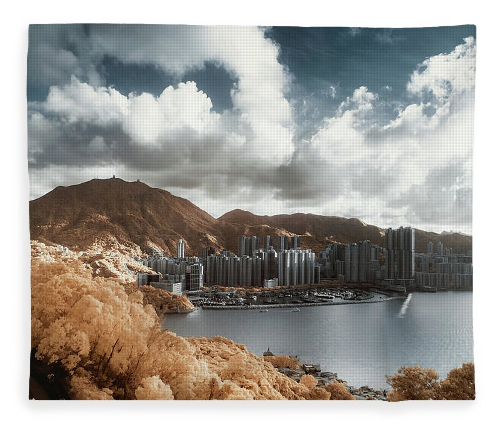 Tranquility Fleece Blanket featuring the photograph Hong Kong by D3sign