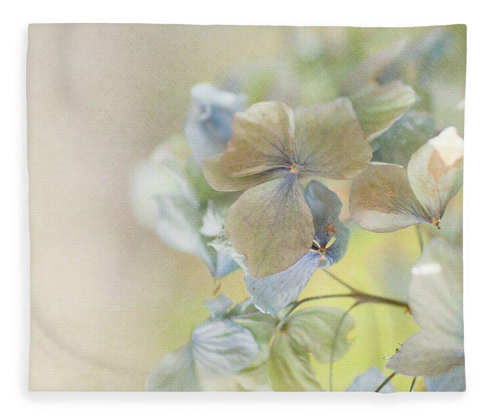 Hydrangea Fleece Blanket featuring the photograph Hydrangea by Jill Ferry
