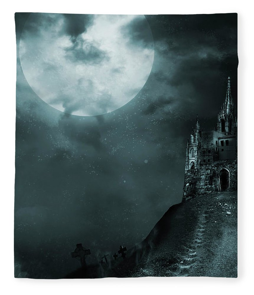 Gothic Style Fleece Blanket featuring the photograph Old Castle by Vladgans