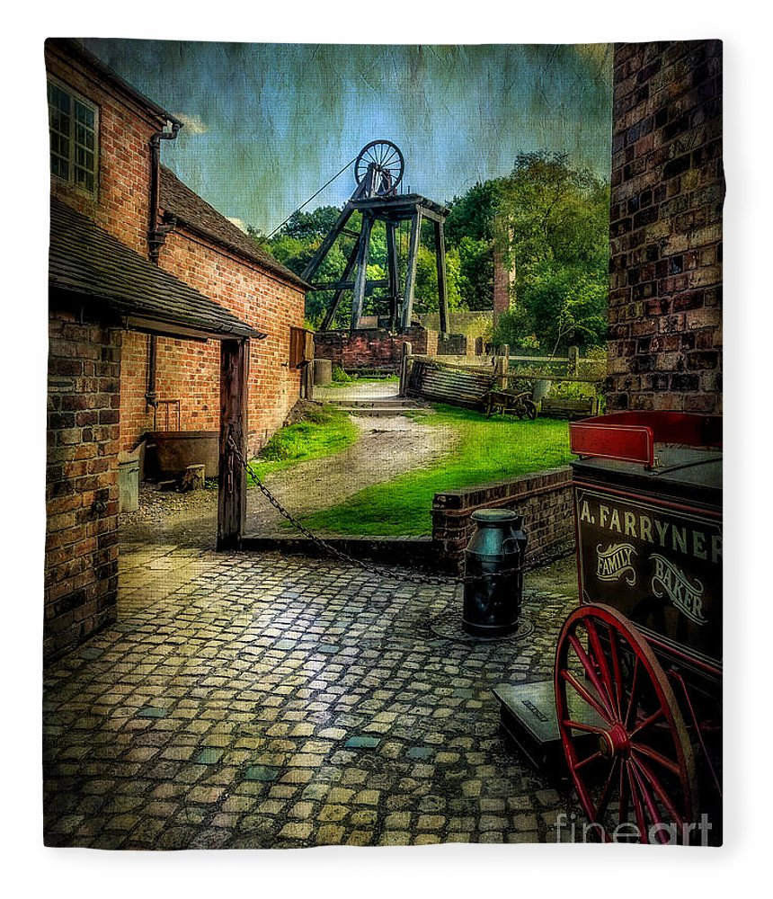 Victorian Fleece Blanket featuring the photograph Old Mine by Adrian Evans