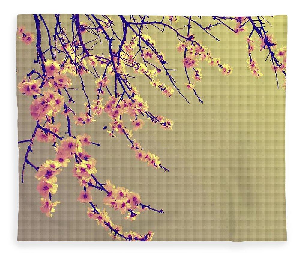 Sakura Fleece Blanket featuring the photograph Sakura by Marianna Mills