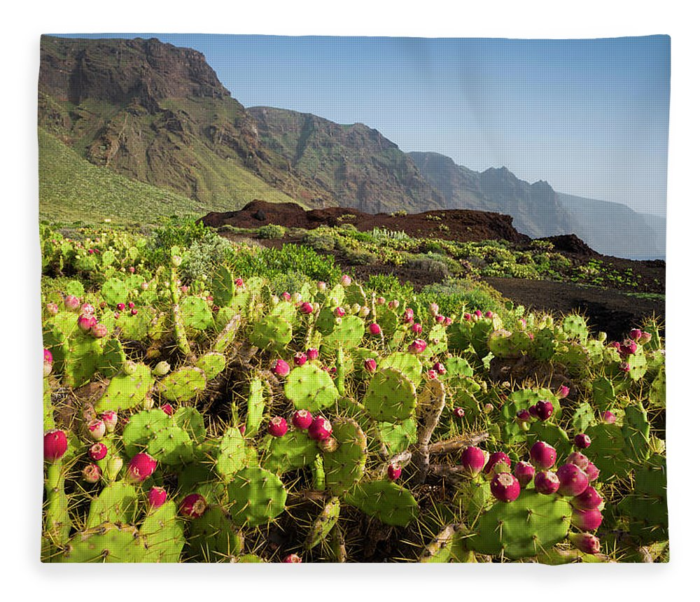 Tranquility Fleece Blanket featuring the photograph Spain, Canary Islands, Tenerife by Walter Bibikow