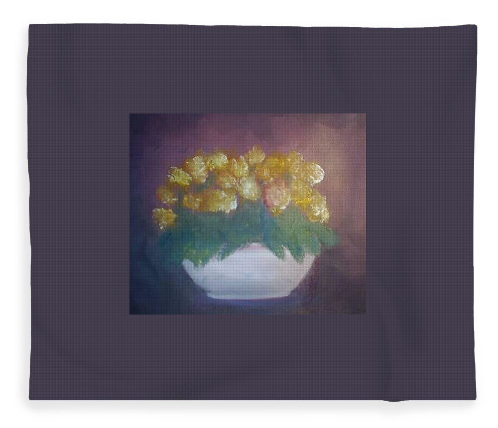Still Life Fleece Blanket featuring the painting Still Life by Sheila Mashaw