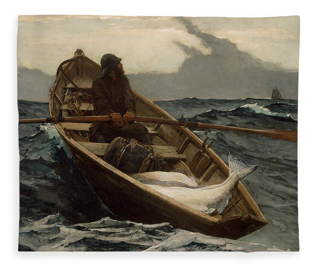 Fog Warning Fleece Blanket featuring the photograph The Fog Warning by Winslow Homer