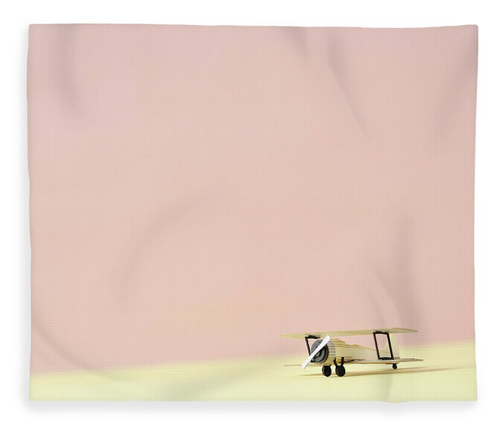 Shadow Fleece Blanket featuring the photograph The Model Of The Airplane Made Of The by Yagi Studio