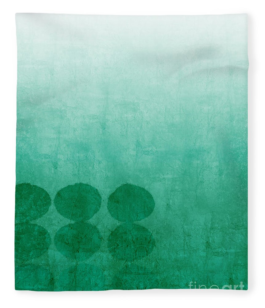 Abstract Fleece Blanket featuring the painting Tranquility by Linda Woods