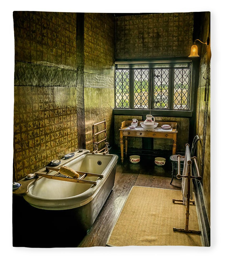 British Fleece Blanket featuring the photograph Victorian Wash Room by Adrian Evans