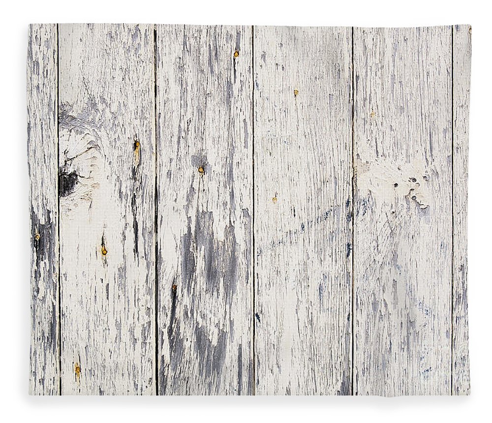 Abstract Fleece Blanket featuring the photograph Weathered Paint On Wood by Tim Hester
