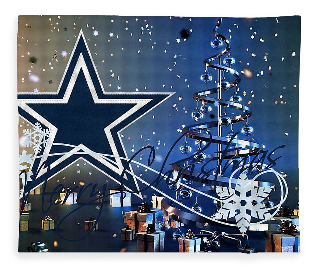 Cowboys Fleece Blanket featuring the photograph Dallas Cowboys by Joe Hamilton
