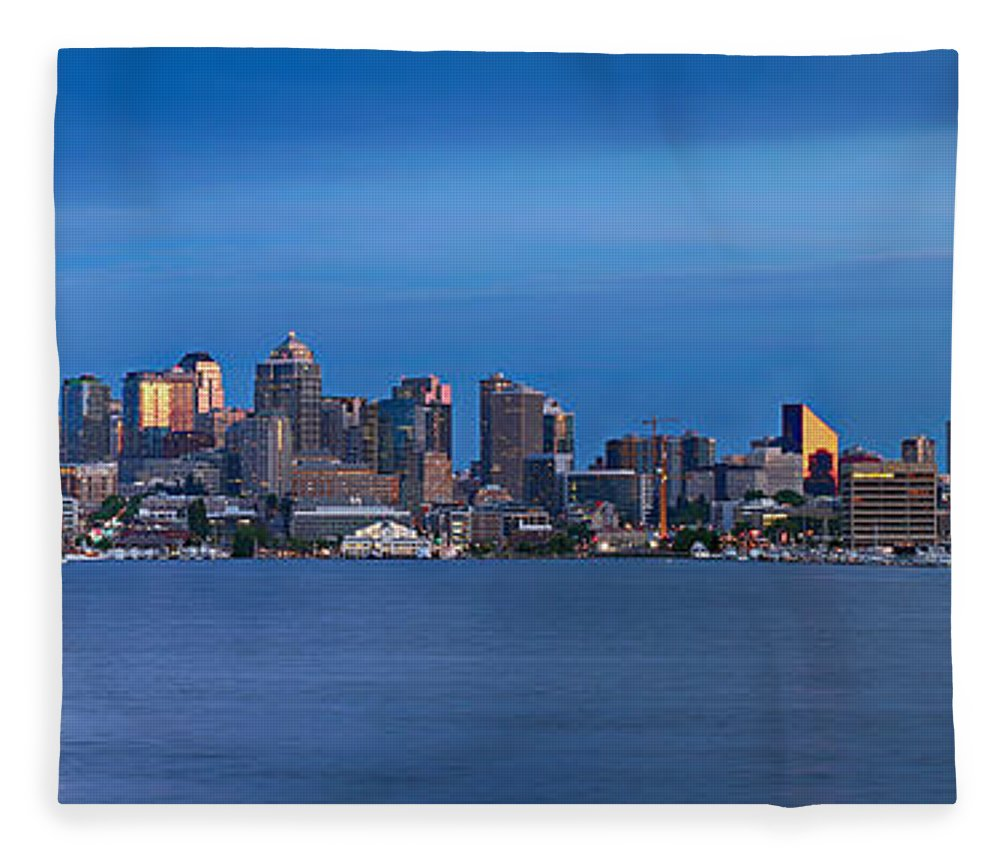 Seattle Fleece Blanket featuring the photograph Seattle by Paul Fell