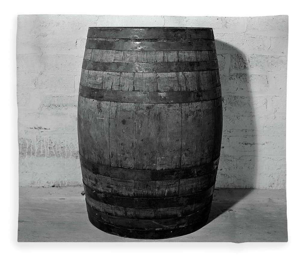 Photography Fleece Blanket featuring the photograph 1930s 1933 Single Wooden Whisky Barrel by Vintage Images