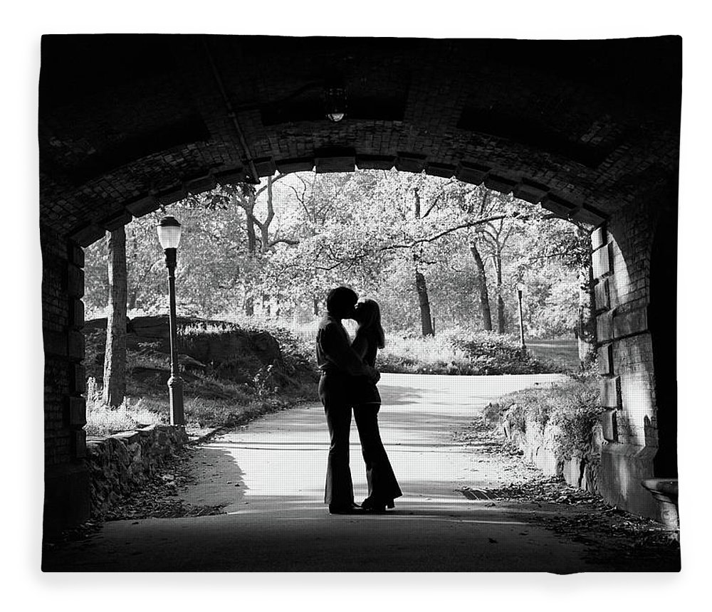 Photography Fleece Blanket featuring the photograph 1960s Silhouette Of Anonymous Young by Vintage Images