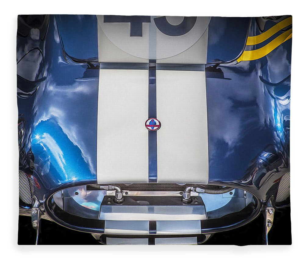 1966 Ford Ac Cobra Fleece Blanket featuring the photograph 1966 Ford Ac Cobra 427 by Rich Franco
