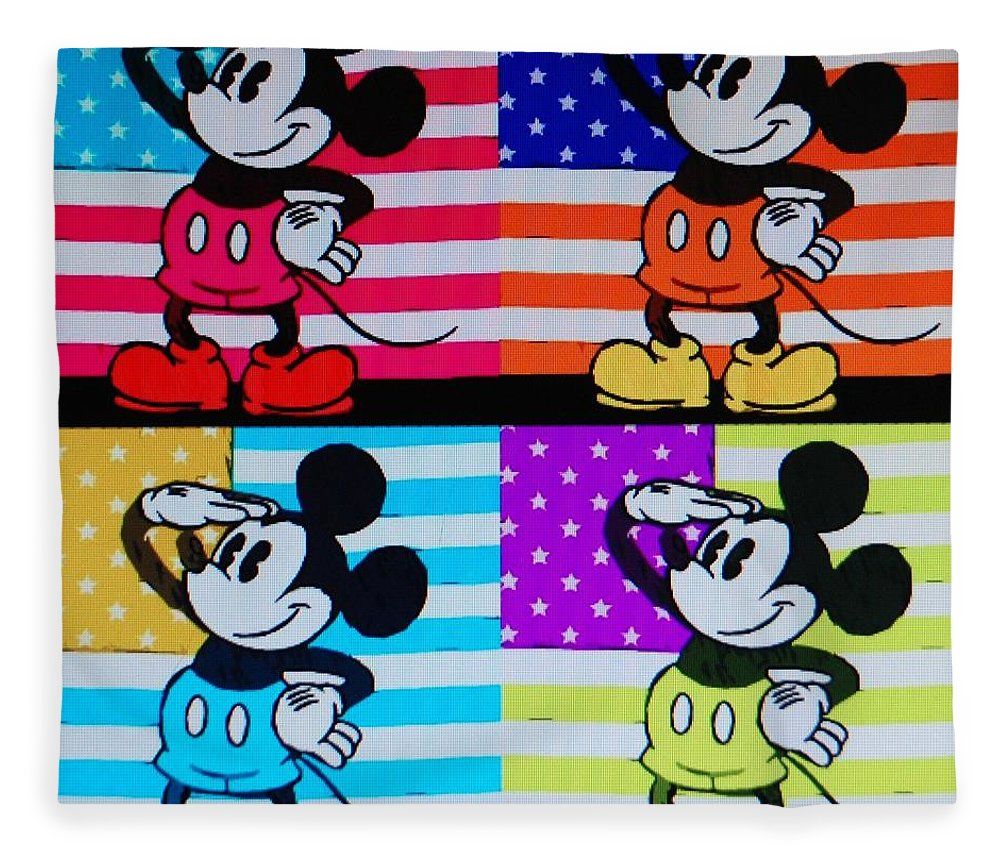 Mickey Mouse Fleece Blanket featuring the photograph American Mickey by Rob Hans