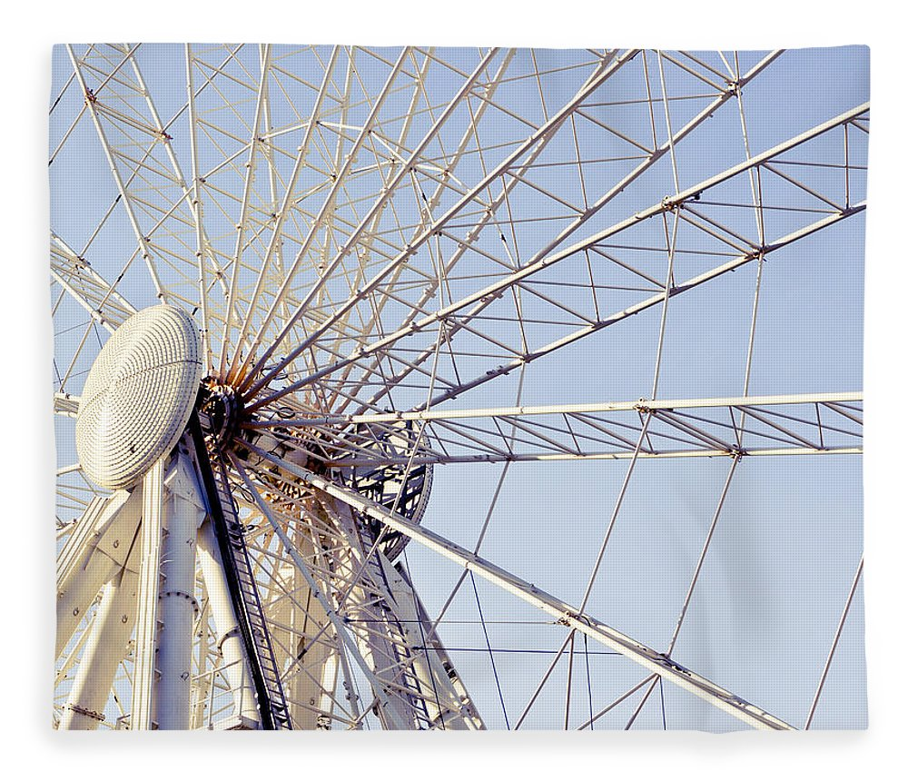 Action Fleece Blanket featuring the photograph Big Wheel 2 by Tom Gowanlock