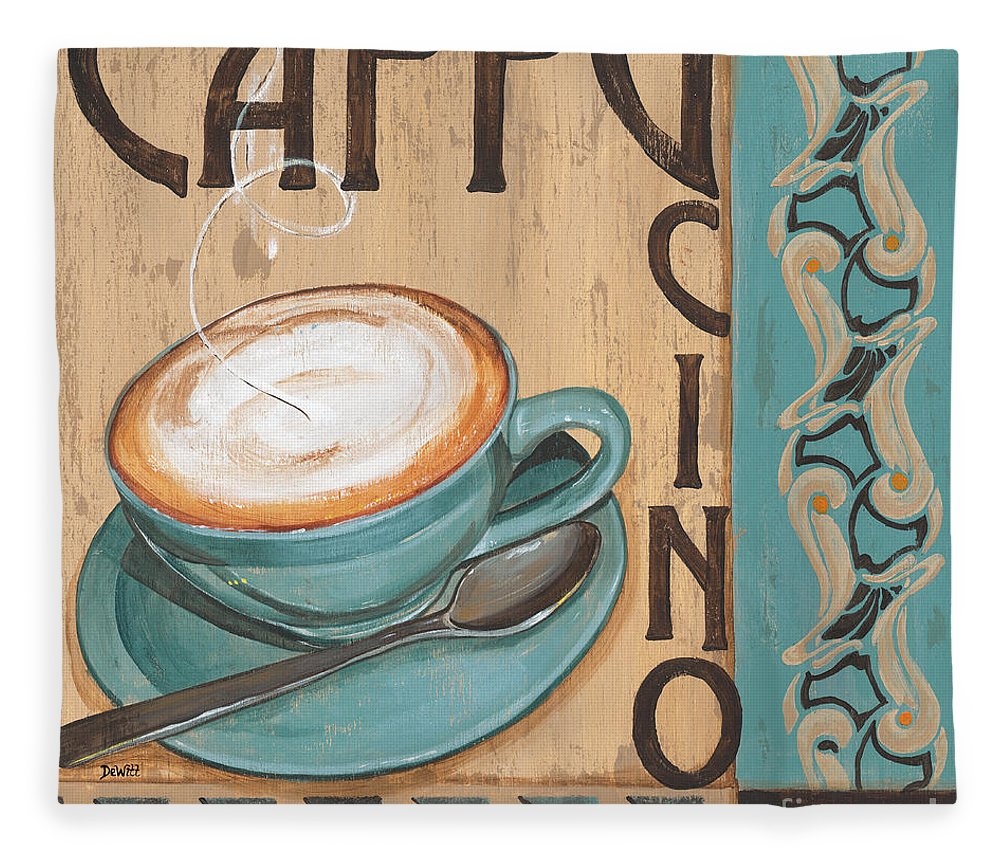 Food Fleece Blanket featuring the painting Cafe Nouveau 1 by Debbie DeWitt