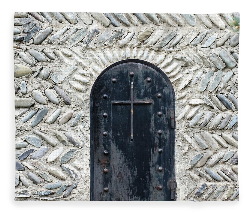 Arch Fleece Blanket featuring the photograph Medieval Door by ????? ???????