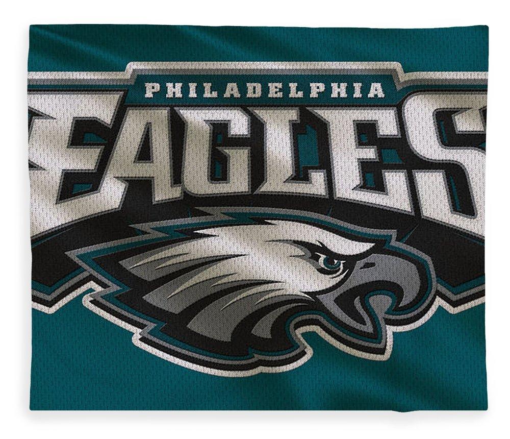 Eagles Fleece Blanket featuring the photograph Philadelphia Eagles Uniform by Joe Hamilton