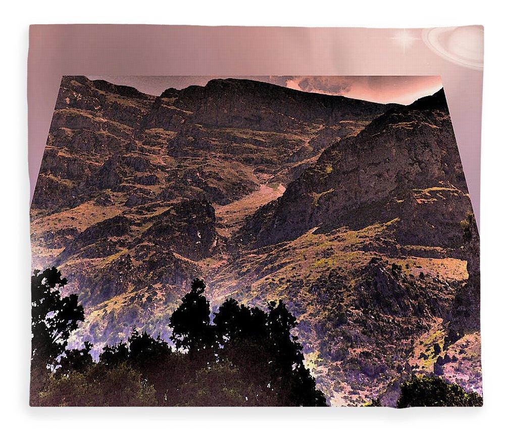 Augusta Stylianou Fleece Blanket featuring the photograph Starry Night Landscape by Augusta Stylianou