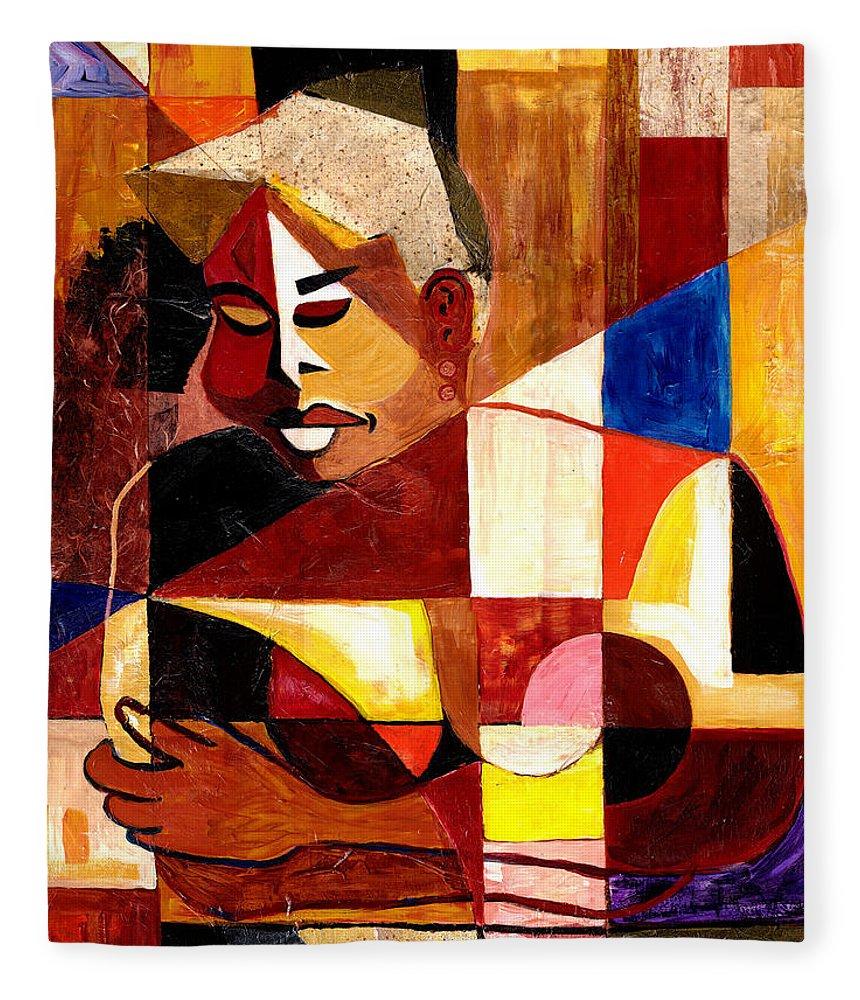 Everett Spruill Fleece Blanket featuring the painting The Matriarch - Take 2 by Everett Spruill